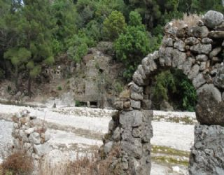 Some of the Roman ruins at Olympos