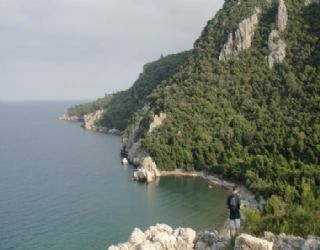 View of the bay at Olympos from the Roman fort